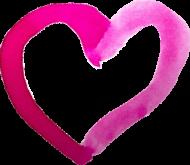Koszulka serce akwarelowe małe