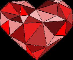 Serce geometryczne małe dziecięca