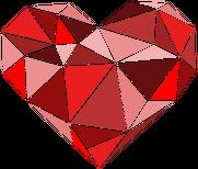 Koszulka serce geometryczne malutkie