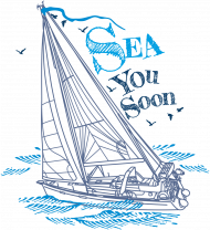 Koszulka żeglarska z jachtem