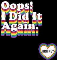 NEW COLLECTION - Oops!... PRIDE BY Britney Spears - koszulka czarna, biała, szara - unisex