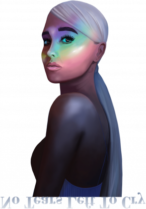 inspired by ariana grande ♡ new collection for ari - bluza czarna unisex - no tears left to cry