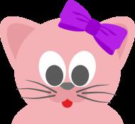 Bawełniana maseczka wielorazowa trójwarstwowa z różowym kotem