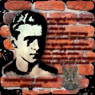 """Koszulka męska """"Krzysztof Kamil Baczyński"""" pomarańczowa"""