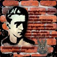 """Koszulka damska """"Krzysztof Kamil Baczyński"""" czarna"""