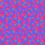 jasno niebieski plecak z nadrukiem w różowe kwiaty