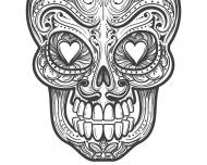 "Maseczka kolorowa ""Zombie Skull"""