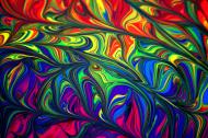 maseczka kolorowa z wzorem kolory farba