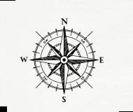 maseczka kolorowa z wzorem róża kompas