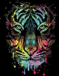 """LONGSLEEVE DAMSKI. W/L/2020/001 Neon Tiger Wildlife Collection STREETSIRT.PL"""