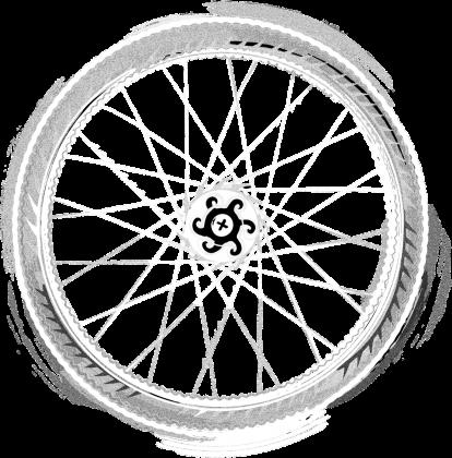 Bike Mandala T Dark Boy