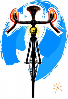 Bike Art T Colorful Girl
