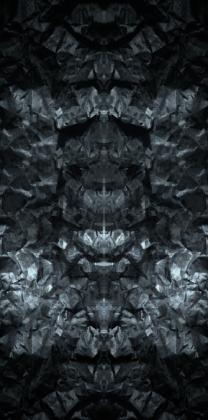 """Komin-Buff """"RŚ Mirror Stone V1 - Niebiesko Szary"""""""