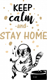 Bluza damska- Keep calm and stay home