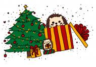 Kubek świąteczne jeże