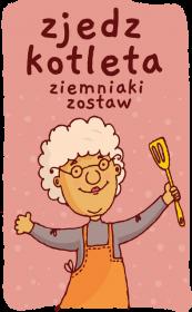 Kubek - Zjedz kotleta, ziemniaki zostaw