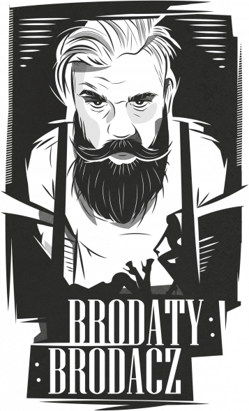 Koszulka biała Brodaty Brodacz by brodatystyl.pl