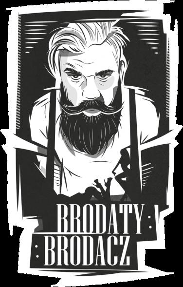 Bluza męska czarna Brodaty Brodacz by brodatystyl.pl