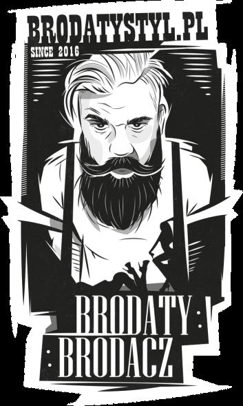 koszulka brodaty styl (grafika na plecach)