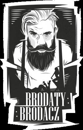 Koszulka męska czarna Brodaty Brodacz by brodatystyl.pl