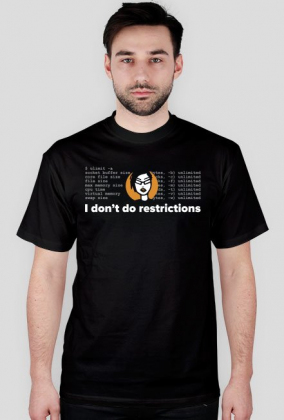 i don't do restrictions