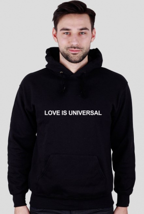 LOVE IS UNIVERSAL (bluza z kapturem męska)