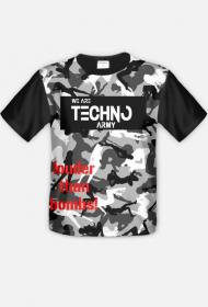 Koszulka męska WE ARE TECHNO ARMY moro.