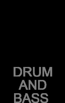 Koszulka DNB Drum and Bass biała