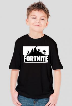 Fortnite Logo Koszulka Dziecięca Czarna