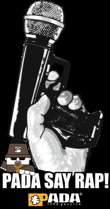 Rap hip hop mikrofon pistolet. Pada