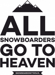 ALL SNOWBOARDERS GO TO HEAVEN - Bluza damska