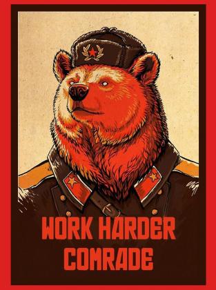Work harder comrade - Bluza męska