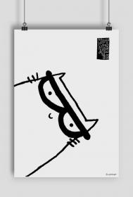Plakat z Kotem Dizajnerem