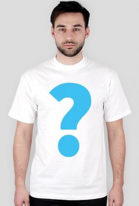 Koszulka z wielkim znakiem zapytania biała