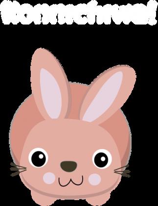 Hello Bunny 3 - Koszulka z japonskim slowkiem