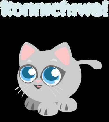 Hello Kitten - T-shirt z japońskim słówkiem