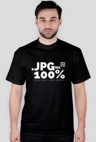 Koszulka - JPG na 100% - szacunek ludzi grafiki  - koszulki informatyczne, koszulki dla programisty i informatyka