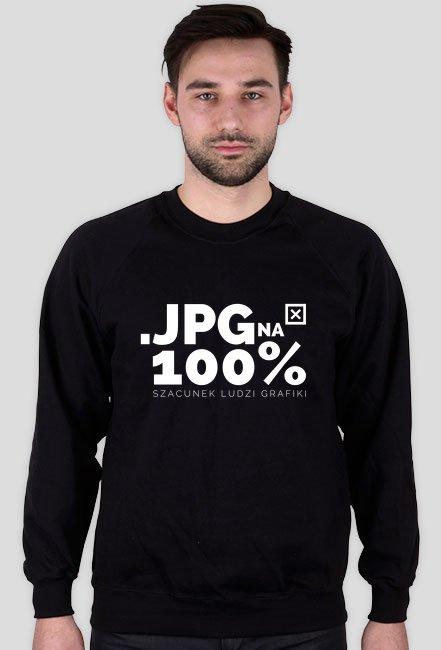 Bluza - JPG na 100% - szacunek ludzi grafiki  - koszulki informatyczne, koszulki dla programisty i informatyka