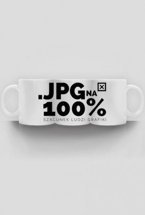 Kubek - JPG na 100% - szacunek ludzi grafiki  - koszulki informatyczne, koszulki dla programisty i informatyka