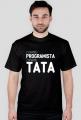 Koszulka - z zawodu programista, z wyboru tata - dziwneumniedziala.com - koszulki dla informatyków - czarna