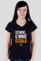 Koszulka damska dwustronna - Dziwne u mnie działa, proszę wyłączyć i włączyć komputer - koszulki informatyczne, koszulki dla programisty i informatyka - dziwneumniedziala.cupsell.pl