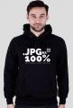 Bluza z kapturem - JPG na 100% - szacunek ludzi grafiki  - koszulki informatyczne, koszulki dla programisty i informatyka
