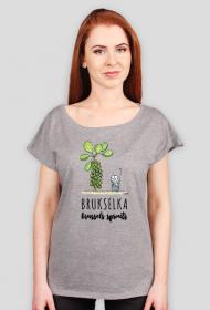 Brukselkowa koszulka z dekoltem