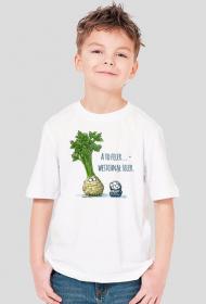 Selerowy T-shirt dla Małych Ludzi