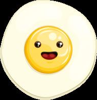 sunny egg sticker
