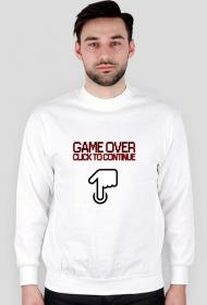 Bluza Game Over Biała
