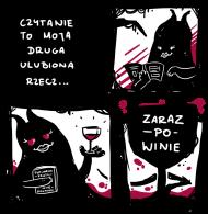 Koszulka Czytanie zaraz po Winie ramiączka