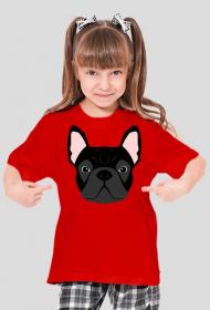 Buldog Francuski T-shirt dla dziewczynki