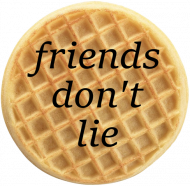 Friends don't lie - waffle bluza