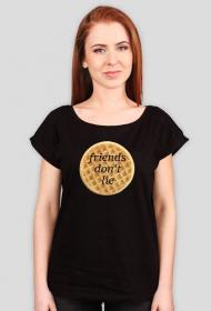 Friends don't lie - waffle koszulka